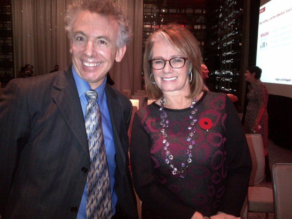 NELSON HUDES WITH DRAGON'S DEN STAR ARLENE DICKINSON