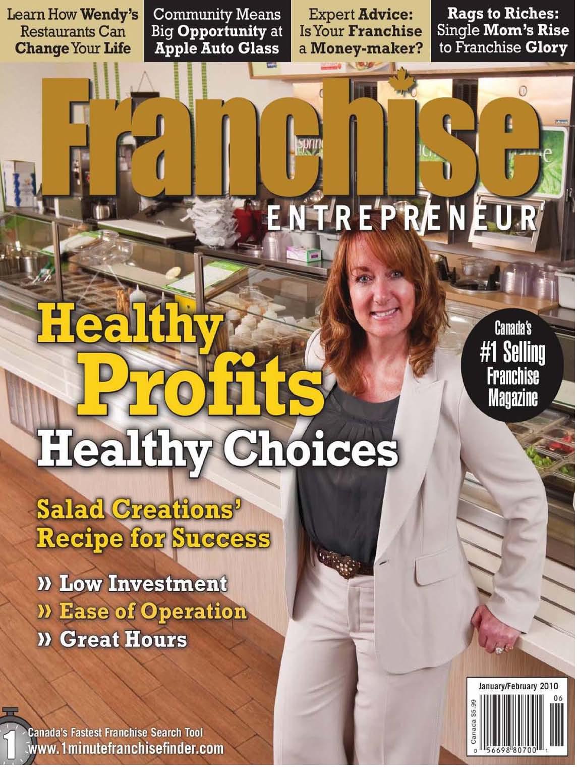 Hudescommunications Com: Salad Creations Canada Featured In FRANCHISE ENTREPRENEUR