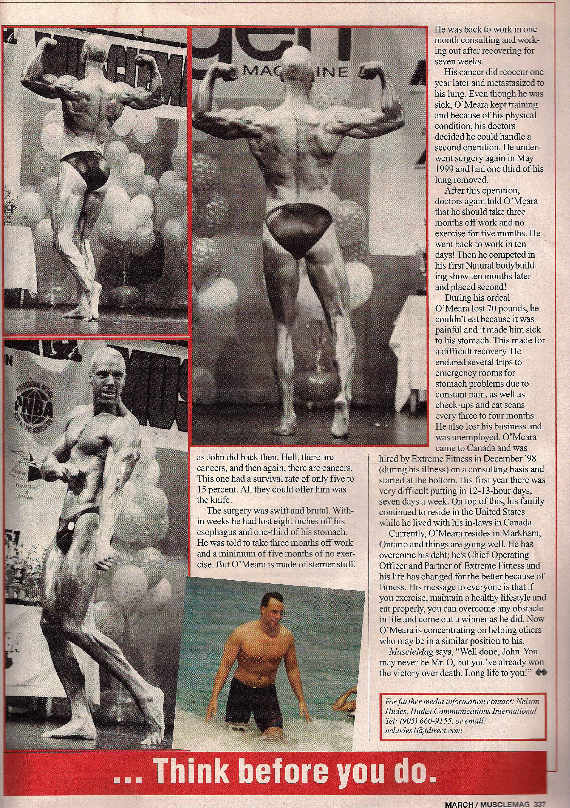 Hudescommunications Com: Extreme Fitness Featured In MUSCLEMAG